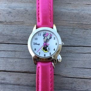 Minnie Mouse Disney Watch with heart dangle